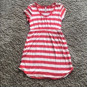 Audrey 3+1 red and white stripe dress